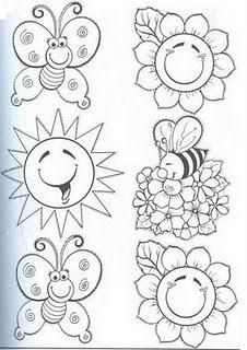 FICHAS PARA TRABAJAR LA PRIMAVERA Spring Coloring Pages, Coloring Book Pages, Coloring Pages For Kids, Free Coloring, Art Drawings For Kids, Drawing For Kids, Easy Drawings, Art For Kids, Embroidery Patterns Free