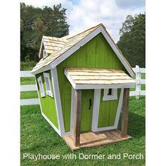 With all the fun & funky angles in this kids' #playhouse, it's like playing in a Dr. #Seuss book. You have the option to add a front porch and/or a dormer window.