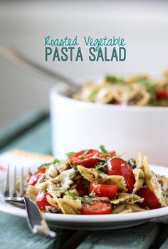 Roasted Vegetable Pasta Salad | http://www.bhg.com/blogs/delish-dish/2014/05/14/roasted-vegetable-pasta-salad/