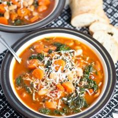 cannellini bean, carrot, and kale soup
