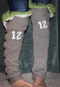 Seattle Seahawks Button Down 12th Man Leg Warmers by LacesOutandCo, $29.50