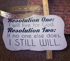 No Regrets: Spiritual Resolutions for the New Year How can we spiritually strengthen ourselves and others this year?