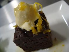 Learn to prep this indulgent #dessert (chocolate brownie with mascarpone and orange syrup) at the Pick n Pay Wine & #Canape Experience, #PicknPayTasteofCPT