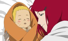 RTN version Kushina and Naruto - Lineart Colored by DennisStelly on DeviantArt