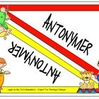 A file-folder game about antonyms in Norwegian, including 40 antonym pairs and blank word cards so it`s easy to make your own!... $4.00