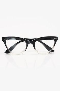 4acb005107d Gradient Frame Cat Eye Clear Glasses - Black - 1029-1 Cool Glasses