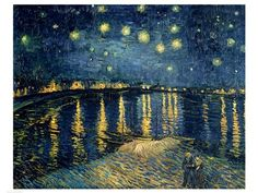 Starry Night over the Rhone, c.1888 by Vincent Van Gogh art print