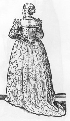 Cesare Vecellio, 1585-90, Reproduced by Dover Books as Vecellio's Renaissance Costume Book Well-to-do Venetian woman at home