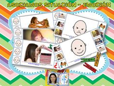 La psico-goloteca: ASOCIANDO EMOCIONES Y SITUACIONES, Y VICEVERSA Emotions Preschool, Sequencing Pictures, Social Skills, Montessori, Playing Cards, Education, Instagram, Kids, Tea