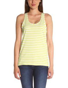Amazon Fr, Basic Tank Top, Tank Tops, Women, Fashion, Stripes, Yellow, Woman, Moda