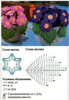 Watch The Video Splendid Crochet a Puff Flower Ideas. Phenomenal Crochet a Puff Flower Ideas. Crochet Cactus, Crochet Leaves, Knitted Flowers, Crochet Diagram, Crochet Chart, Crochet Motif, Crochet Flower Tutorial, Crochet Flower Patterns, Irish Crochet