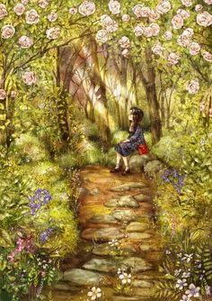 插画森林女孩日记图片10张