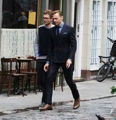 Tom Hiddleston in soho September 3, 2015