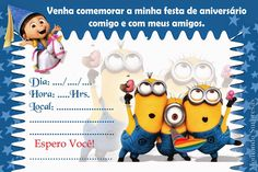 Post with 0 votes and 15473 views. Minion Party, Birthday Invitation Templates, Halloween, Disney, Internet, Awesome, Invitation Birthday, Baby Boy Birthday, Birthday Invitations