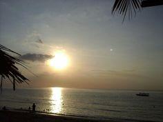 The beach, sun and boat, senggigi beach, lombok island, indonesia, taken by me - samsung tab 4 only