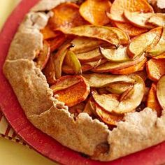 Rustic Apple-Sweet Potato Tart #myplate #fruit #vegetables