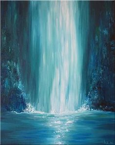 Buy Blue Falls Liz W Fine Art an Acrylic Painting on Canvas by Liz Whaley from United States For sale Price is 387 Size is 20 x 16 x 1 5 in # Acrylic Painting For Kids, Acrylic Painting For Beginners, Simple Acrylic Paintings, Blue Painting, Beginner Painting, Acrylic Painting Canvas, Painting Art, Abstract Acrylic Paintings, Abstract Portrait