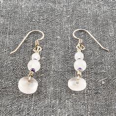 Rose Quartz and Silver Earrings    SER42