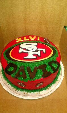 49er Cake for Daniel's birthday