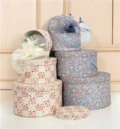 """Love hat boxes. I've collected a handful and use them to collect """"Jay and Ali"""" memories and they are stacked up to be a night stand."""
