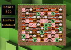 JuegosMinecraft.es - Juego: Creeper Crush - Jugar Juegos Gratis Online Flash