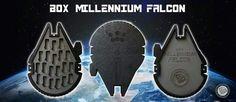 Box Millennium Falcon / Wood / shop on line www.lasertagitaly.com