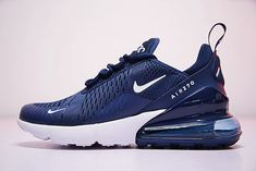 Cheap Nike Air Max 270 Blue White AH8050 410 Mens Sport Running Shoes  Sneakers 2018 Spring 42a9695f4