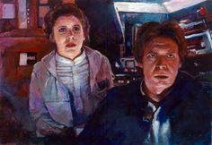 han and leia star wars illustrated sketch card by charles-hall on DeviantArt