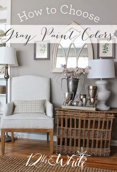A list of the the best light gray paint colors for walls with ...