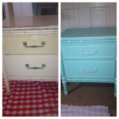 """Before/After Bali Jai """"Henry Link"""" style nightstand - Available NOW at The Treasure Chest, Cortez, FL"""