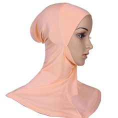 Hijab Headwear Full Cover Under Scarf Ninja Inner Neck Chest Plain Hat Cap Scarf Bonnet 21 Colors - Women Dresses for Every Age! Head Wrap Scarf, Scarf Hat, Hijab Makeup, Hijab Caps, Headband Wrap, Bonnet Hat, Muslim Hijab, Head And Neck, Neck Scarves