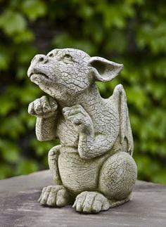 Scraps, dragon pup garden ornament