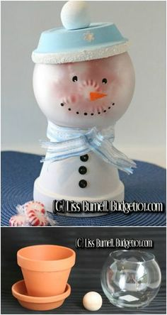 20 DIY Clay Pot Christmas Decorations That Add Charm To Your Holiday Décor - Don't you just love Christmas crafts? There is just something so fun about making decorations for the holidays. I always try to do a few different DIY. Clay Pot Crafts, Diy Clay, Diy Christmas Gifts, Holiday Crafts, Christmas Decorations, Christmas Candy, Christmas Tree, Diy Snowman Gifts, Christmas Kingdom