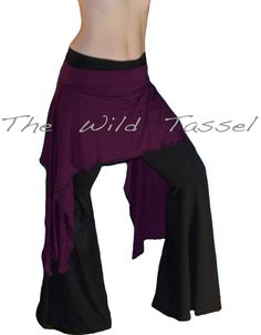 Tribal Fusion Hip Scarf: Purple Belly Dance by TheWildTassel