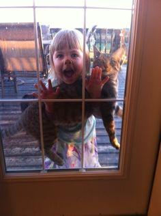 Ou uma manhã agradável do lado de fora, livre dos abraços sufocantes. | 23 motivos pelos quais crianças e animais nunca deveriam se misturar