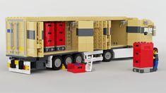 Legos, Lego Van, Lego City Fire Station, Modele Lego, Lego Auto, Transporter Van, Construction Lego, Lego Truck, Lego Club