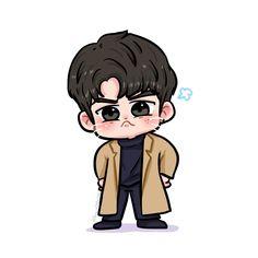 @penguinONGONG ️ Ong Seong-wu ❤️ Got7 Fanart, Kpop Fanart, Bts Chibi, Anime Chibi, Idol 3, Kpop Drawings, Dibujos Cute, First Art, Boy Art