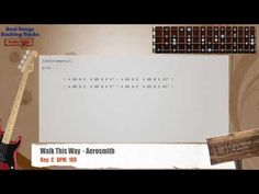 Walk This Way  - Aerosmith Bass Backing Track with chords and lyrics