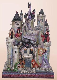 4013979 Haunted Castle with 10 Disney Villains by Jim Shore - Disney Traditions from Enesco
