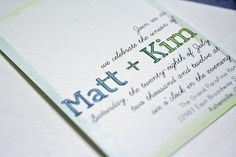 DIY wedding invitations by Tiffany Johnson