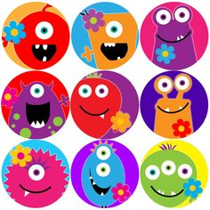 these colourful monster flowers reward stickers are perfect to make a big impression on young learners and can be used with any reward system < p> Felt Monster, Monster Party, Party Bags, Party Gifts, Monster Birthday Cakes, Monster Pictures, Monster Stickers, Reward Stickers, Doodle Icon
