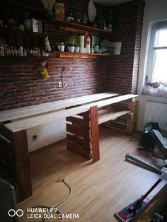 mein selbstgebauter kr utertisch aus alt mach neu tatjanas geliebtes neues zuhause in. Black Bedroom Furniture Sets. Home Design Ideas