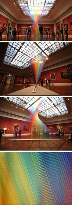 Ein ätherischer Regenbogen aus Fäden füllt eine Galerie im Toledo Museum of A… An ethereal rainbow of threads fills a gallery in the Toledo Museum of Art – Installation – # ethereal Toledo Museum Of Art, Art Museum, Art Installation, Art Steampunk, Instalation Art, Ideias Diy, Wow Art, Oeuvre D'art, Plexus Products
