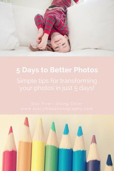 5 Days to Better Photos. Blog series with photography tips about composition. Learn 5 different ways to compose your photos. www.stacymaephotography.com