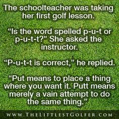 Golf is about learning...and humor! #startyoungerplaylonger #funny #golf #lorisgolfshoppe