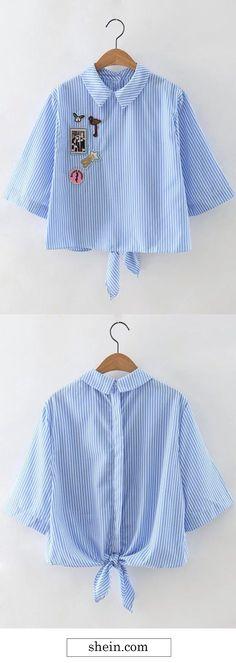 Cheap Trendy Blouse Design by SHEIN.