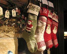 gorgeous knit stockings