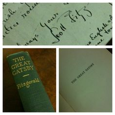 Treasures at the Pratt: F. Scott Fitzgerald signed copy of The Great Gatsby