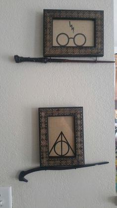 I needed a way to display my children's wands after our trip to Universal Studios. This is what I came up with. Harry Potter fans!!!