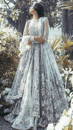 Indian Pakistani Bridal Anarkali Suits & Gowns Collection Wedding Fancy Anarkali suits for Asian brides in best designs and styles. Bridal Anarkali Suits, Indian Bridal Lehenga, Pakistani Wedding Dresses, Pakistani Outfits, Pakistani Gowns, Indian Saris, Indian Anarkali, Pakistani Couture, Wedding Lehanga